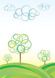 Abstract Vector Landscape Royalty Free Stock Photos