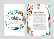Abstract vector layout background set. For art template design, list, front page, mockup brochure theme style, banner, idea, cover. Booklet, print, flyer, book Stock Photos