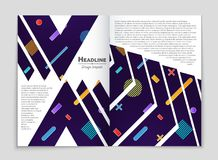 Abstract vector layout background set. For art template design, list, front page, mockup brochure theme style, banner, idea, cover. Booklet, print, flyer, book Stock Image