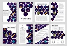 Abstract vector layout background set. For art template design, list, front page, mockup brochure theme style, banner, idea, cover. Booklet, print, flyer, book Stock Images
