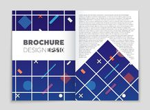 Abstract vector layout background set. For art template design, list, front page, mockup brochure theme style, banner, idea, cover. Booklet, print, flyer, book Royalty Free Stock Photos