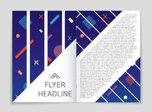 Abstract vector layout background set. For art template design, list, front page, mockup brochure theme style, banner, idea, cover. Booklet, print, flyer, book Royalty Free Stock Photo
