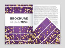 Abstract vector layout background set. For art template design, list, front page, mockup brochure theme style, banner, idea, cover. Booklet, print, flyer, book Stock Photo