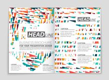 Abstract vector layout background set. For art template design, list, front page, mockup brochure theme style, banner, idea, cover. Booklet, print, flyer, book stock illustration