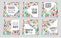 Abstract vector layout background set. For art template design, list, front page, mockup brochure theme style, banner, idea, cover. Booklet, print, flyer, book royalty free illustration