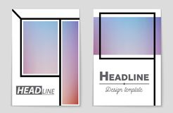 Abstract vector layout background set. For art template design, list, front page, mockup brochure theme style, banner stock illustration