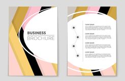 Abstract vector layout background set. For art template design, list, front page, mockup brochure theme style, banner Royalty Free Stock Image