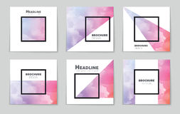 Abstract vector layout background for web and mobile app, art template design, list, page, mockup brochure theme style. Abstract vector layout background set Royalty Free Illustration