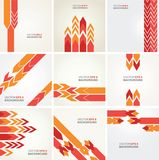 Abstract vector layout design Stock Photography