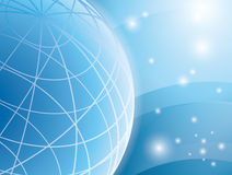 Abstract vector light blue background with globe Royalty Free Stock Image