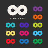 Abstract Vector Limitless Symbol, Icon or a Logo Stock Image