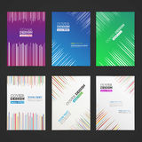 Abstract vector lines design for flyer Stock Photography