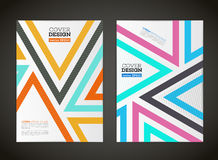 Abstract vector lines design for flyer Royalty Free Stock Image