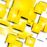 Abstract vector lines and squares Royalty Free Stock Image