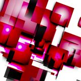Abstract vector lines and squares.  royalty free illustration