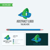 Abstract vector logo and business card template Stock Photo