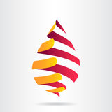 Abstract vector logo. Design template royalty free illustration
