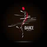 Abstract Vector Logo Design Template. Creative Dance Concept Icon Stock Image