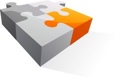 Abstract vector logo / icon - puzzle piece Stock Photos