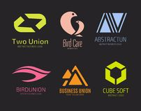 Abstract vector logo set template for branding and Stock Photos