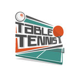 Abstract vector logo for table tennis Stock Photography