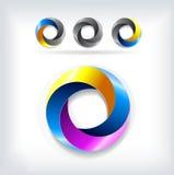 Abstract vector logo template circle Royalty Free Stock Photo