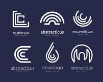 Abstract vector logo template set for branding and. Design stock illustration
