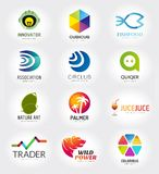 Abstract vector logo template set for branding and Royalty Free Stock Image
