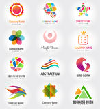 Abstract vector logo template set for branding and Stock Images