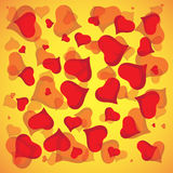 Abstract vector love background full of hearts. Happy Valentines Say for card.  Stock Images
