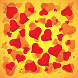 Abstract vector love background full of hearts. Valentine s day for card.  stock illustration
