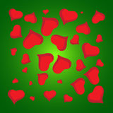 Abstract vector love background full of hearts. Valentine s day for card.  Royalty Free Stock Images