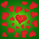 Abstract vector love background full of hearts. Valentine s day for card.  Stock Image