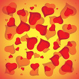 Abstract vector love background full of hearts. Valentine s day for card.  vector illustration