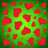 Abstract vector love background full of hearts. Valentine s day for card.  Stock Photo