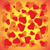 Abstract vector love background full of hearts. Valentines day frame for card with copyspace.  Royalty Free Stock Photography