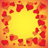 Abstract vector love background full of hearts. Valentines day frame for card with copyspace Royalty Free Stock Photo