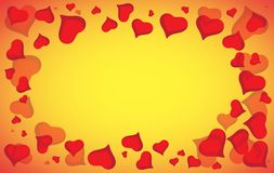Abstract vector love background full of hearts. Valentines day frame for card with copyspace Stock Images