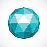 Abstract vector low poly object with black lines  Stock Images