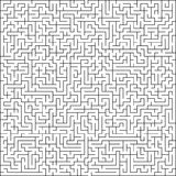 Abstract vector maze of high complexity. Template layout royalty free illustration