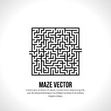 Abstract vector maze logo. Logo icon concept Stock Images