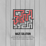 Abstract vector maze logo. Logo icon concept Royalty Free Stock Photo