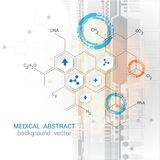 Abstract Vector Medical Gray Background Graphics Illustrations. Royalty Free Stock Photo