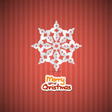 Abstract Vector Merry Christmas Background. Retro Red Abstract Vector Merry Christmas Background Royalty Free Stock Images