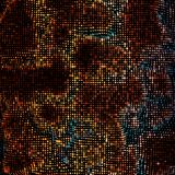 Abstract vector mesh background. Point cloud. Chaotic light waves. Technological cyberspace background. Cyber waves Royalty Free Stock Photography