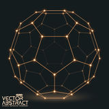 Abstract vector mesh sphere constructed with Stock Photos