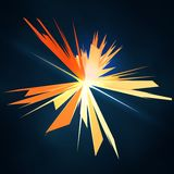 Abstract vector mesh star. Futuristic technology style. Elegant background for your presentations. Stock Image