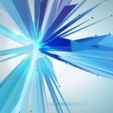 Abstract vector mesh star. Futuristic technology style. Elegant background for your presentations. Stock Photos