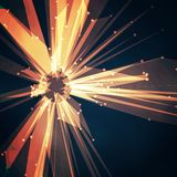 Abstract vector mesh star. Futuristic technology style. Elegant background for your presentations. Royalty Free Stock Image