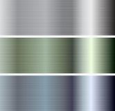 Abstract vector metallic plate banners. Abstract metallic plate banners. Vector design Royalty Free Stock Photos